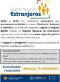 CENSO de Extranjeros - Estado Plurinacional de Bolivia